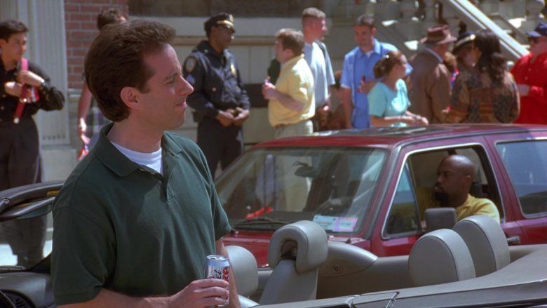 Diet Coke Can Held by Jerry Seinfeld in Seinfeld Season 9 Episode 20 The Puerto Rican Day (3)