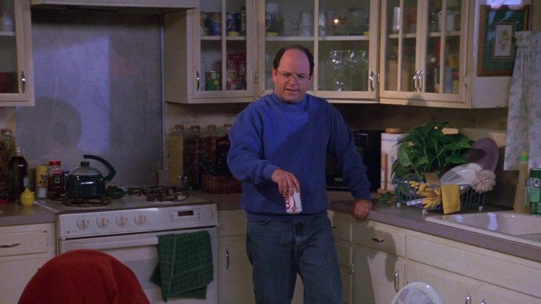 Diet Coke Enjoyed by Jason Alexander as George Costanza in Seinfeld Season 9 Episode 5 The Junk Mail