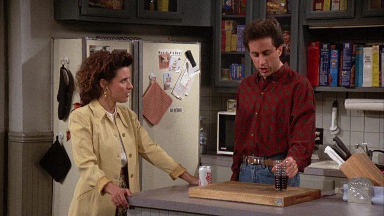 Diet Coke Enjoyed by Jerry Seinfeld in Seinfeld Season 3 Episode 12 The Red Dot