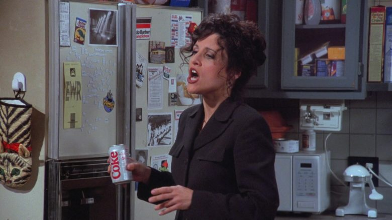 Diet Coke Enjoyed by Julia Louis-Dreyfus as Elaine Benes in Seinfeld Season 7 Episode 19 (1)