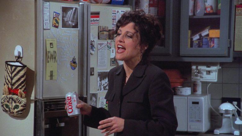 Diet Coke Enjoyed by Julia Louis-Dreyfus as Elaine Benes in Seinfeld Season 7 Episode 19 (2)