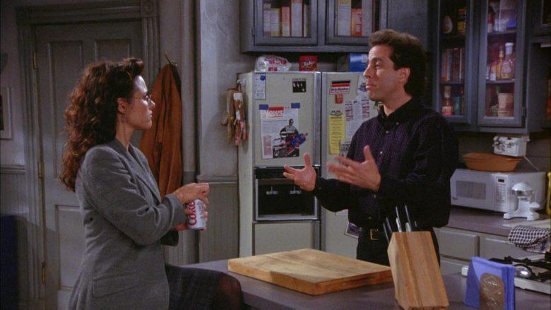 Diet Coke Soda Enjoyed by Julia Louis-Dreyfus as Elaine Benes in Seinfeld Season 6 Episode 6 (1)