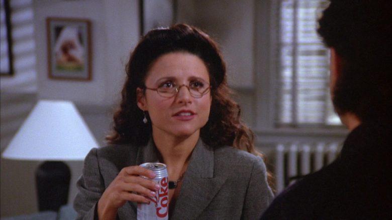 Diet Coke Soda Enjoyed by Julia Louis-Dreyfus as Elaine Benes in Seinfeld Season 6 Episode 6 (2)