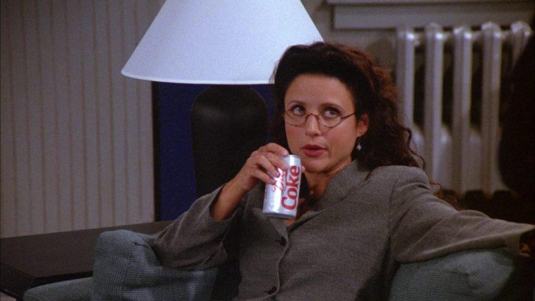 Diet Coke Soda Enjoyed by Julia Louis-Dreyfus as Elaine Benes in Seinfeld Season 6 Episode 6 (3)