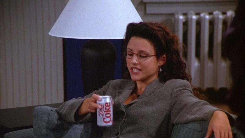 Diet Coke Soda Enjoyed by Julia Louis-Dreyfus as Elaine Benes in Seinfeld Season 6 Episode 6 (4)