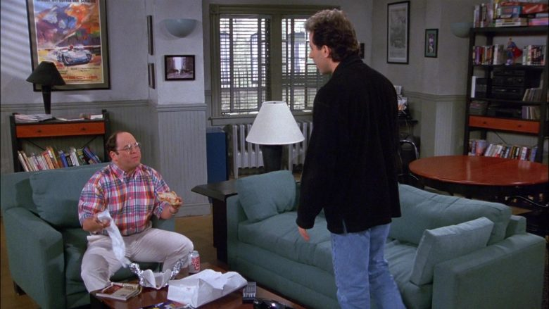 Diet Cola Enjoyed by Jason Alexander as George Costanza in Seinfeld Season 8 Episode 21 The Muffin Tops (1)