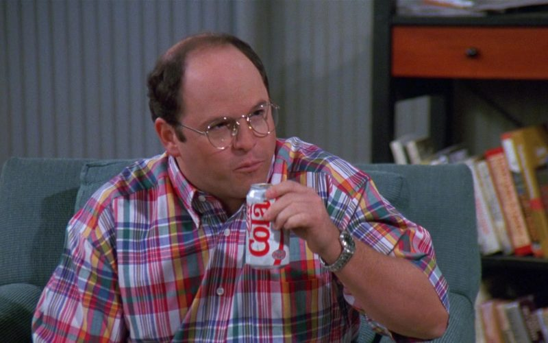 Diet Cola Enjoyed by Jason Alexander as George Costanza in Seinfeld Season 8 Episode 21 The Muffin Tops (3)