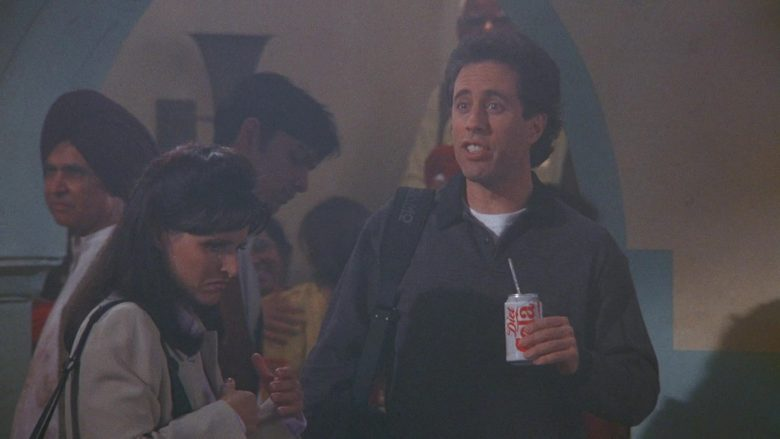 Diet Cola Enjoyed by Jerry Seinfeld in Seinfeld Season 9 Episode 8 The Betrayal