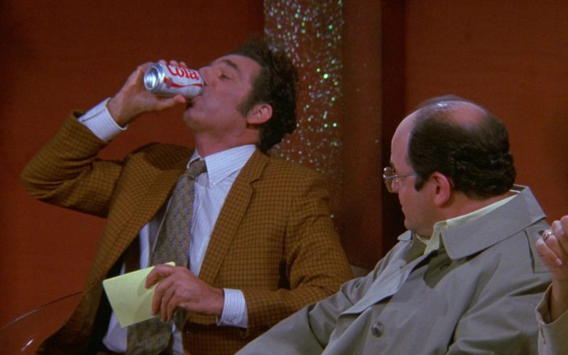 Diet Cola Enjoyed by Michael Richards as Cosmo Kramer in Seinfeld Season 9 Episode 6 The Merv Griffin Show (2)