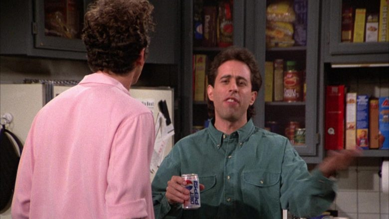 Diet Pepsi Soda Enjoyed by Jerry Seinfeld in Seinfeld Season 3 Episode 14 (2)