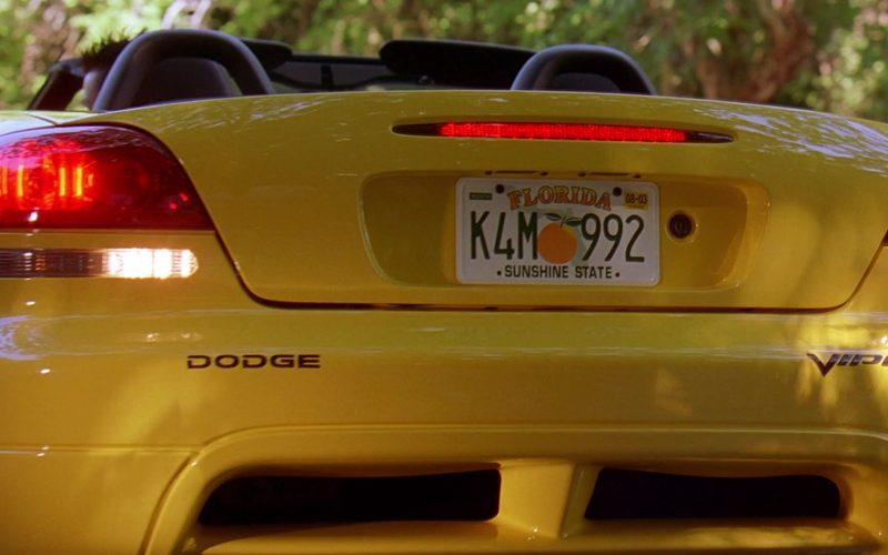 Dodge Viper SRT-10 Convertible Yellow Sports Car in 2 Fast 2 Furious (1)