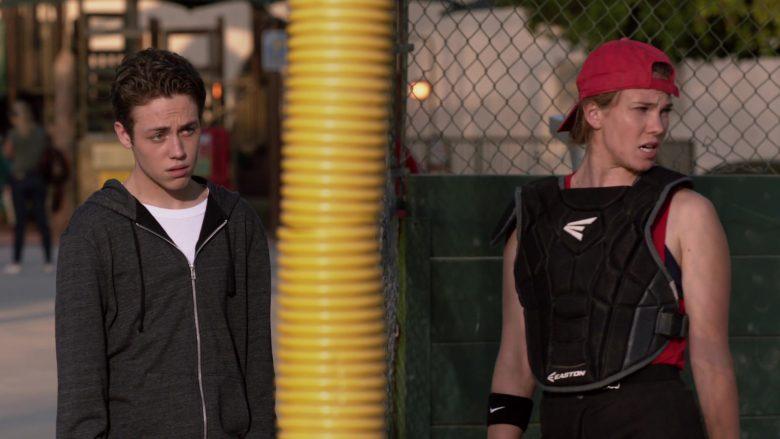 Easton Baseball Protector and Nike Swoosh Wristband in Shameless Season 10 Episode 7 Citizen Carl (1)