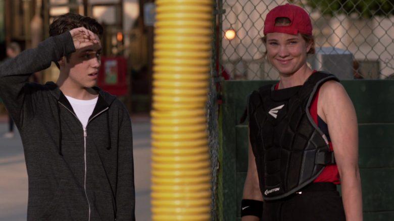 Easton Baseball Protector and Nike Swoosh Wristband in Shameless Season 10 Episode 7 Citizen Carl (2)