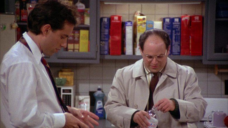 Evian Bottled Water Held by Jason Alexander as George Costanza in Seinfeld Season 2 Episode 3 (2)