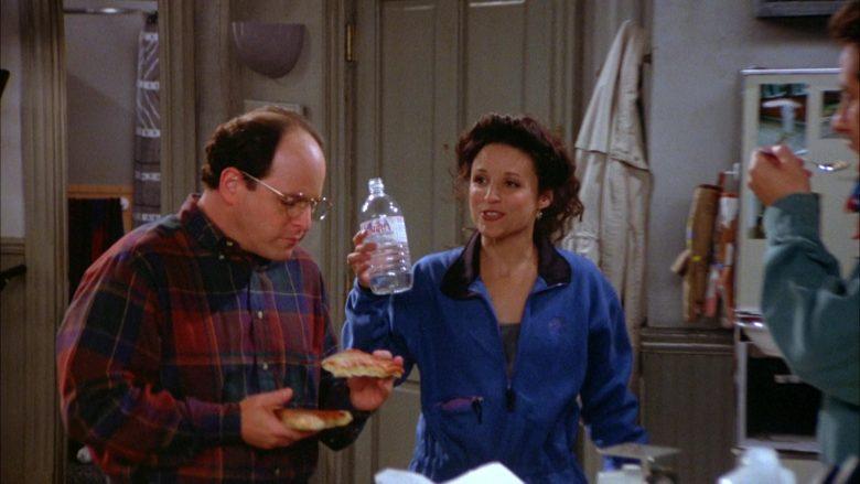Evian Bottled Water Held by Julia Louis-Dreyfus as Elaine Benes in Seinfeld Season 5 Episode 7 (1)