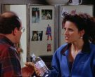 Evian Bottled Water Held by Julia Louis-Dreyfus as Elaine Benes in Seinfeld Season 5 Episode 7 (3)