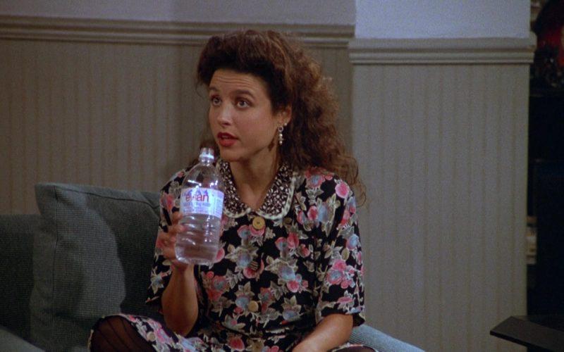 Evian Water Enjoyed by Julia Louis-Dreyfus as Elaine Benes in Seinfeld Season 3 Episode 1 (1)