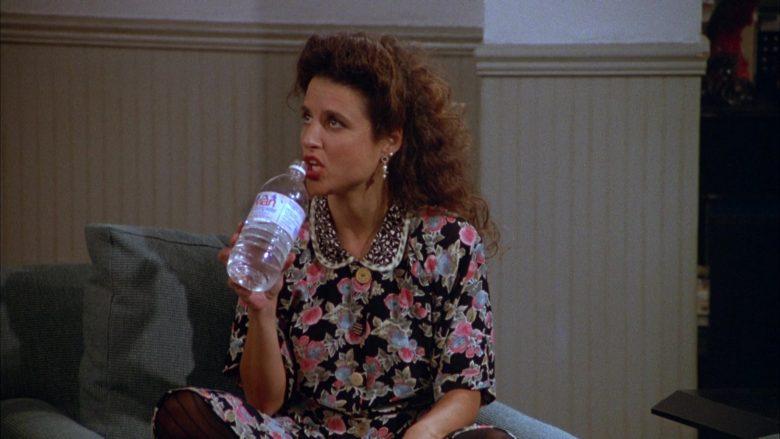 Evian Water Enjoyed by Julia Louis-Dreyfus as Elaine Benes in Seinfeld Season 3 Episode 1 (2)