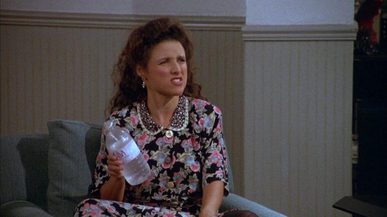 Evian Water Enjoyed by Julia Louis-Dreyfus as Elaine Benes in Seinfeld Season 3 Episode 1 (3)