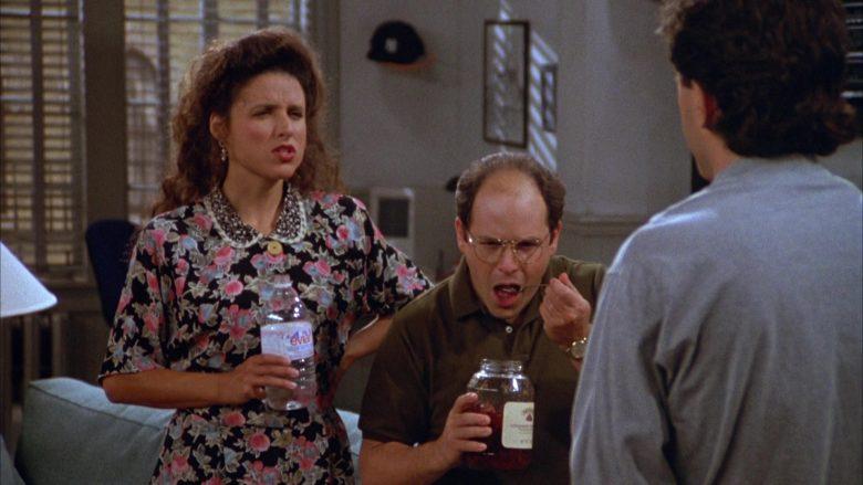 Evian Water Enjoyed by Julia Louis-Dreyfus as Elaine Benes in Seinfeld Season 3 Episode 1 (5)