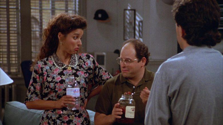 Evian Water Enjoyed by Julia Louis-Dreyfus as Elaine Benes in Seinfeld Season 3 Episode 1 (6)