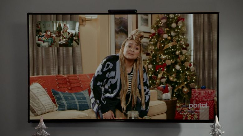 Facebook Portal in Black-ish Season 6 Episode 10 Father Christmas (2)