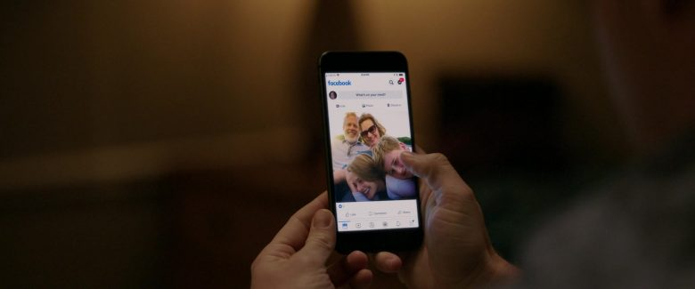 Facebook Social Network Used by Adam DeVine in Jexi (2019) Movie