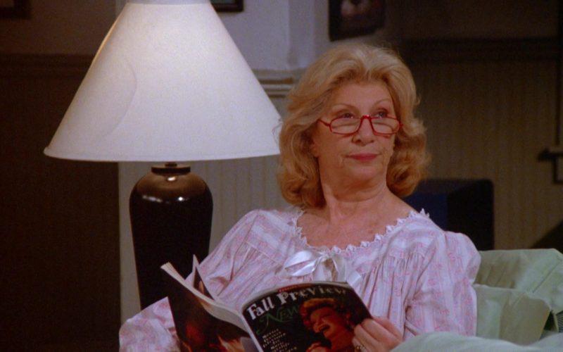 Fall Preview New York Magazine Held by Liz Sheridan as Helen Seinfeld in Seinfeld Season 5 Episode 18-19