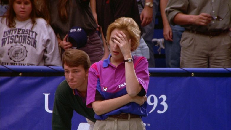 Fila Women's Short Sleeve Shirt in Seinfeld Season 5 Episode 6 The Lip Reader