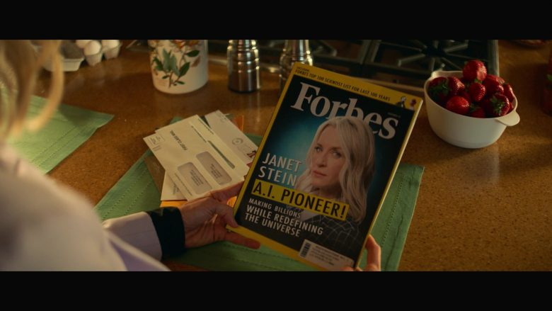 Forbes Magazine Held by Ever Carradine as Janet Stein in Runaways Season 3 Episode 1 Smoke and Mirrors