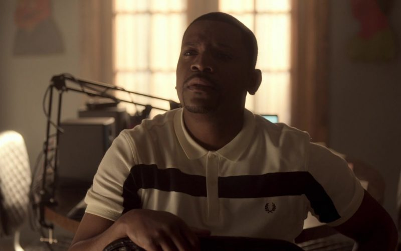 Fred Perry Polo Shirt Worn by Mekhi Phifer as Markus Knox in Truth Be Told Season 1 Episode 5 Graveyard Love (1)