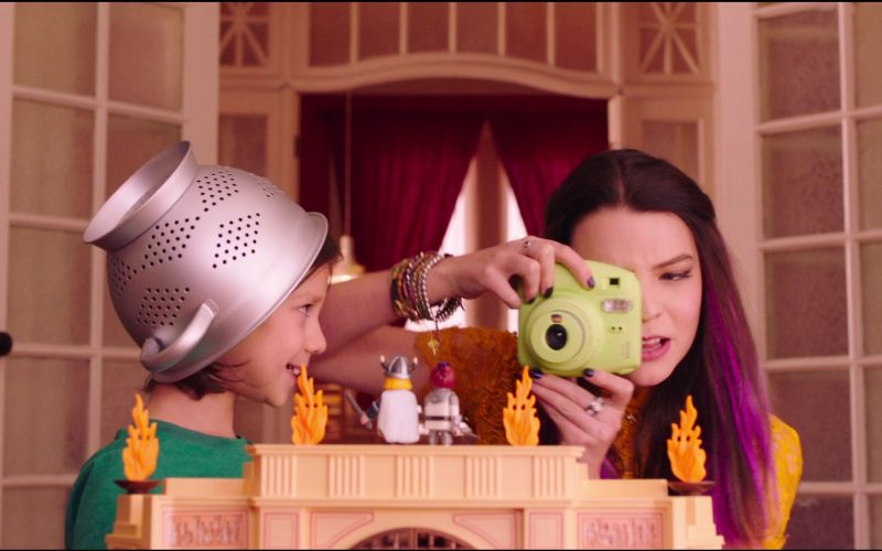Fujifilm Instax Green Instant Camera Used by Anya Taylor-Joy in Playmobil The Movie