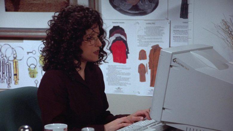 Gateway Monitor Used by Julia Louis-Dreyfus as Elaine Benes in Seinfeld Season 7 Episode 18 The Friars Club