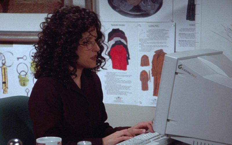 Gateway Monitor Used by Julia Louis-Dreyfus as Elaine Benes in Seinfeld Season 7 Episode 18 The Friars Club