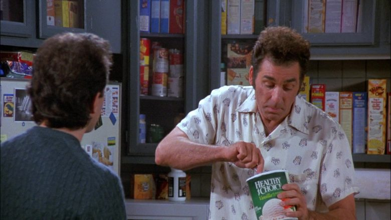 Healthy Choice Vanilla Ice Cream Enjoyed by Michael Richards as Cosmo Kramer in Seinfeld Season 8 Episode 4 (1)