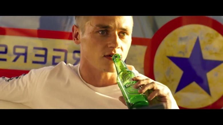 Heineken Beer Enjoyed by Ben Hardy in 6 Underground (2019) Movie
