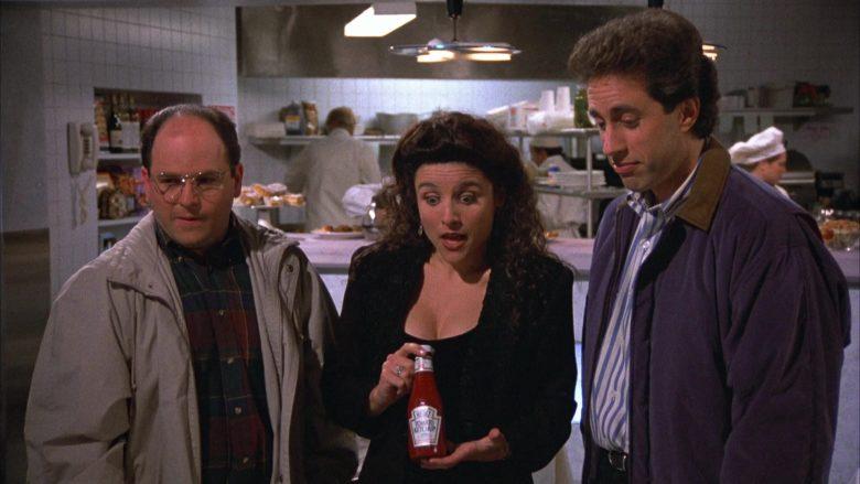 Heinz Ketchup Held by Julia Louis-Dreyfus as Elaine Benes in Seinfeld Season 4 Episode 16 (2)