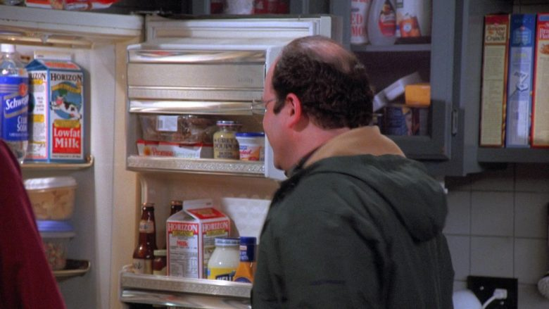 Horizon Organic Milk and Schweppes in Seinfeld Season 7 Episode 18 The Friars Club