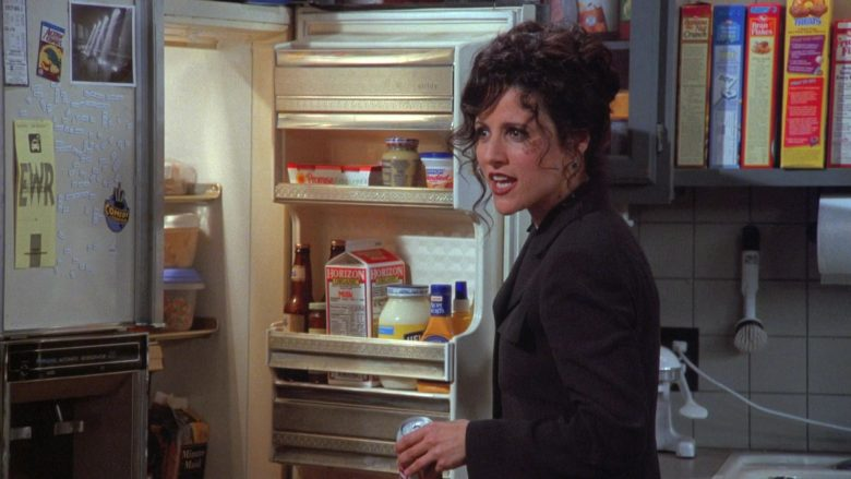 Horizon Organic Milk in Seinfeld Season 7 Episode 19 The Wig Master