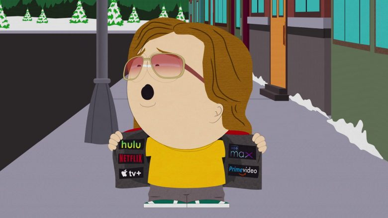 Hulu, Netflix, Apple TV+, HBO Max, Amazon Prime Video in South Park Season 23 Episode 9 (1)