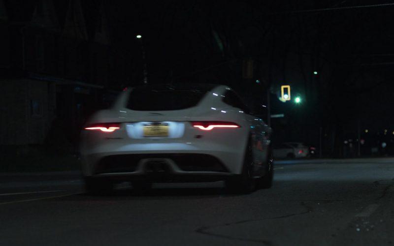 Jaguar F-Type White Car in V Wars Season 1 Episode 1 (1)