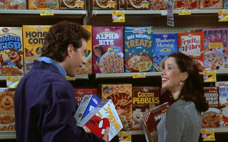 Kellogg's and Post Breakfast Cereals in Seinfeld Season 7 Episode 24 The Invitations