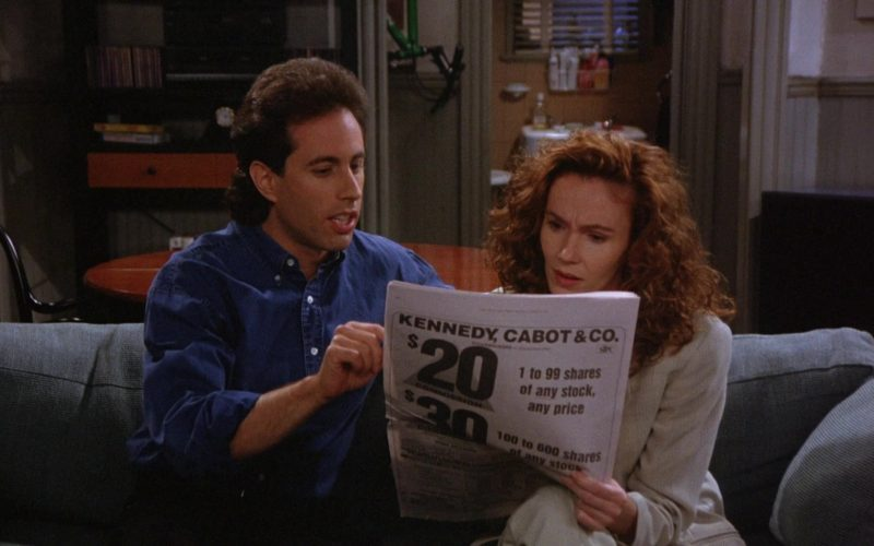 Kennedy, Cabot & Co. Newspaper Advertising in Seinfeld Season 6 Episode 2 The Big Salad (1)
