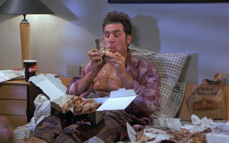 Kenny Rogers Roasters Food Enjoyed by Michael Richards as Cosmo Kramer in Seinfeld Season 8 Episode 8 The Chicken Roaster (1)