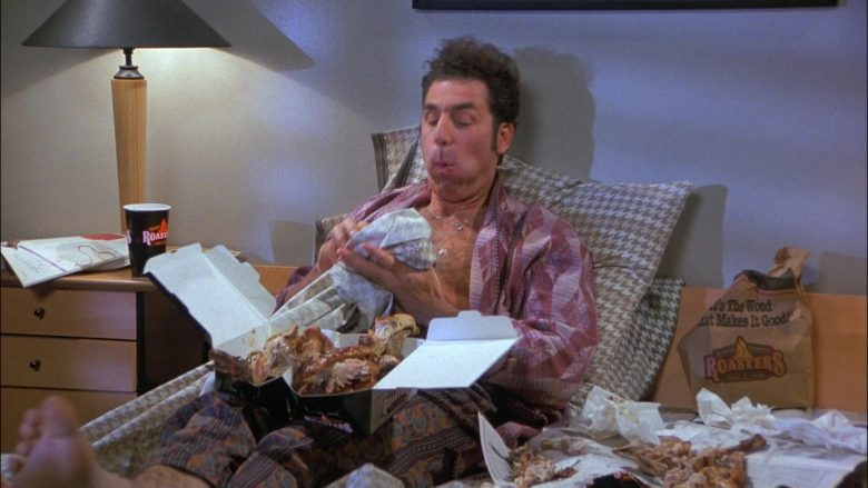 Kenny Rogers Roasters Food Enjoyed by Michael Richards as Cosmo Kramer in Seinfeld Season 8 Episode 8 The Chicken Roaster (2)
