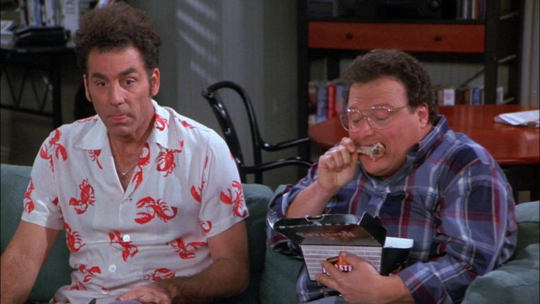 Kenny Rogers Roasters Food Enjoyed by Wayne Knight as Newman in Seinfeld Season 8 Episode 8 The Chicken Roaster (2)