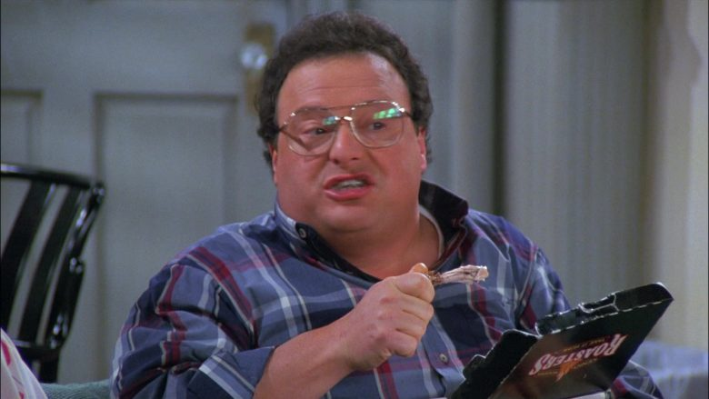 Kenny Rogers Roasters Food Enjoyed by Wayne Knight as Newman in Seinfeld Season 8 Episode 8 The Chicken Roaster (3)