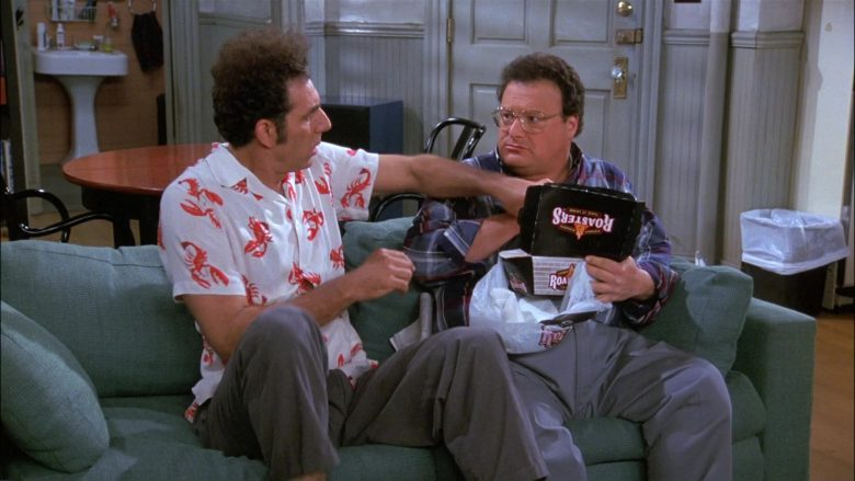 Kenny Rogers Roasters Food Enjoyed by Wayne Knight as Newman in Seinfeld Season 8 Episode 8 The Chicken Roaster (4)