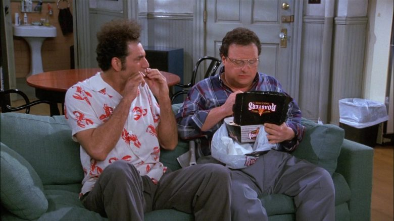 Kenny Rogers Roasters Food Enjoyed by Wayne Knight as Newman in Seinfeld Season 8 Episode 8 The Chicken Roaster (5)