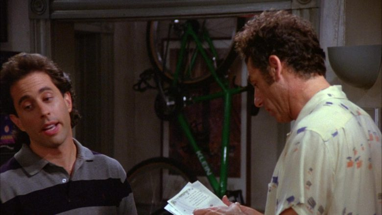 Klein Green Bicycle in Seinfeld Season 6 Episode 3 The Pledge Drive (2)